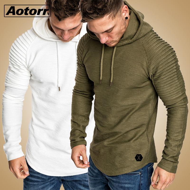 2020 caliente del otoño nuevos Hoodies de la marca masculina de manga larga superior sólido con capucha para hombre Pollovers streetwear del tamaño grande polerón hombre