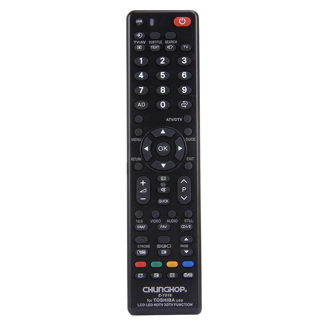 CHUNGHOP E-T919 Universal Remote Controller for TOSHIBA LED TV / LCD TV / HDTV / 3DTV