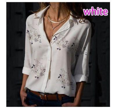 Blusas de las mujeres 2020 collar de moda de manga larga de apertura de cama camisa de la oficina ocasional de la camisa más tapa del tamaño Mujer Blusas