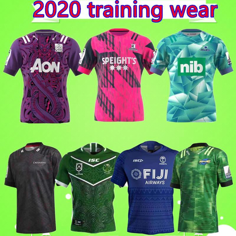 Fidschi Hurricane Crusades Highland Ober Blues Größe: S-XXL Super-Rugby-Liga NRL Jersey.2020 Mustang Trainingsbekleidung für Erwachsene Herren Shirt Anzug
