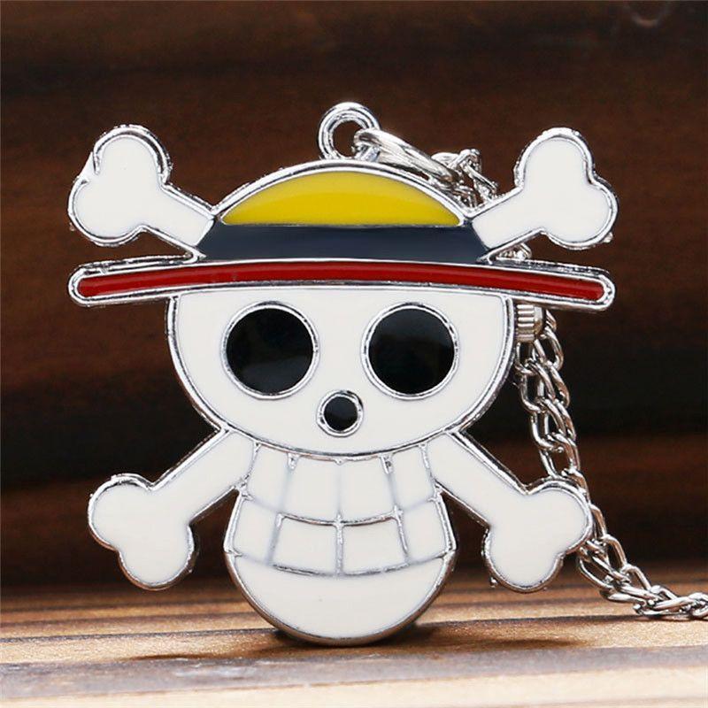 Classic Antique One Piece Pocket Watch Steampunk Bronze Quartz Analog Clock Pirate Skull Watches with Necklace Chain Best Gift