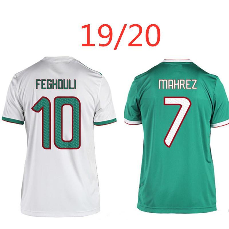 Cezayir Mahrez Feghouli Brahimi futbol forması 2019 2020 Belaïli BOUNEDJAH 19 20 ev uzakta yeni üst thai yetişkin kalite A +++ futbol forması