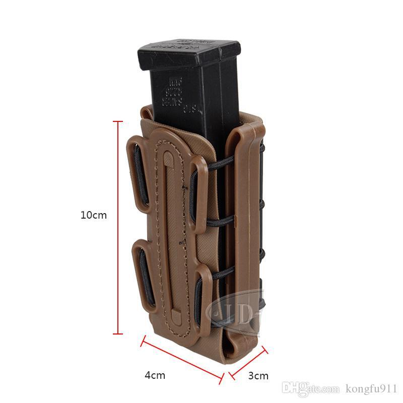 EE.UU. Fastmag Bolsas Mil Cinturón Cinturón de plástico Clip Molle Pouch R225 Tall Softshell G-Code G17 G19 9mm Magazine 1911 Bag mag RxSHR