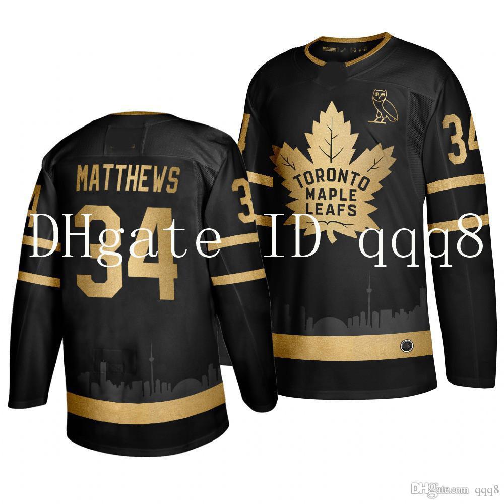 2021 Toronto Maple Leafs Jersey Auston Matthews Golden Edition ...