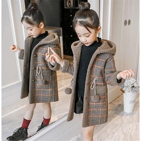 Nueva Winter Spring Girl acolchado caliente CoatMX190916 capa de la manera de lana