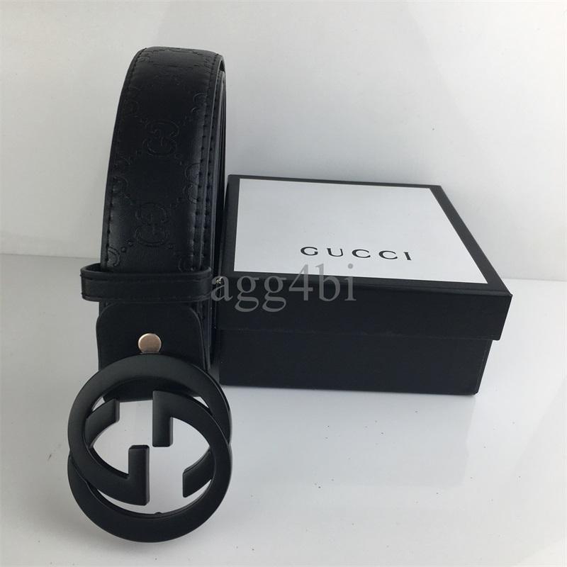 Cinture Designer Cinture di lusso per gli uomini fibbia della cintura superiore di modo Mens delle cinghie di cuoio di marca degli uomini Cintura donna con box