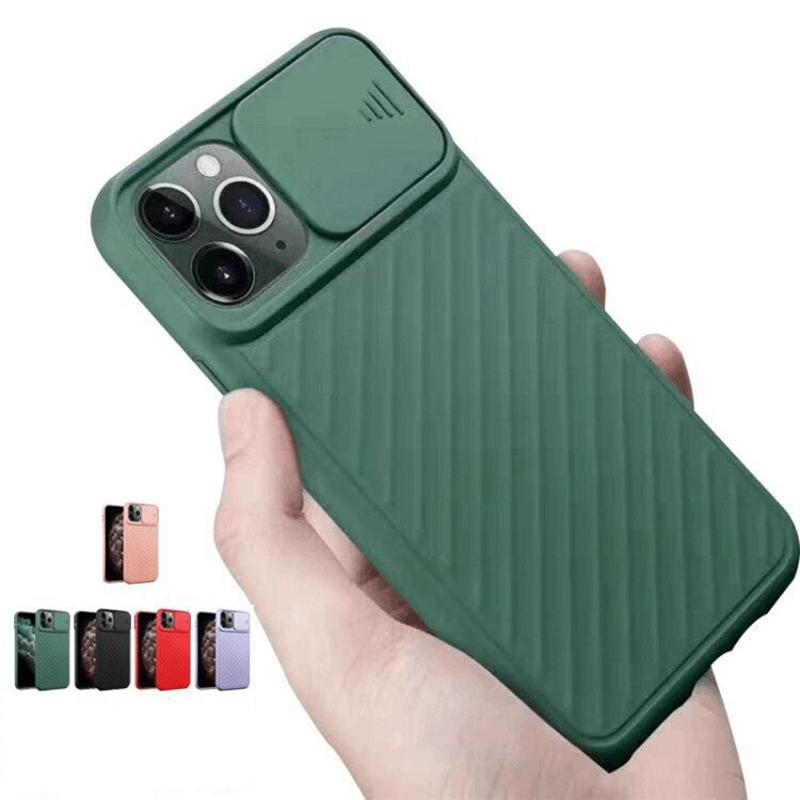 For iphone 11 pro x xr xs max cell phone case cover with camera lens protection slide door