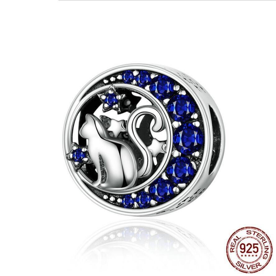 Pandora Bilezikler Kolye Takı Yapımı Mix DIY Moda Aksesuar 925 Gümüş Kedi Denizkızı Boncuk Charms