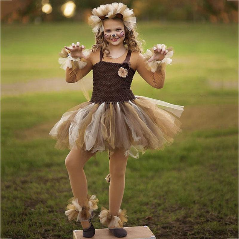 Lion King Halloween Party 2020 2020 Cute Lion King Cartoon Animal Cosplay Tutu Dress Kids