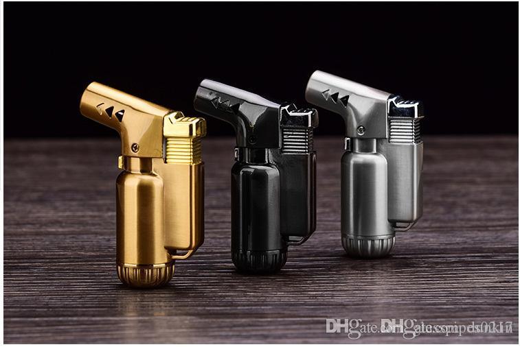 DHL свободный Meatal бутан струи пламени легче факел ветрозащитный прикуривателя Сварочный пистолет многоразового бутан зажигалка