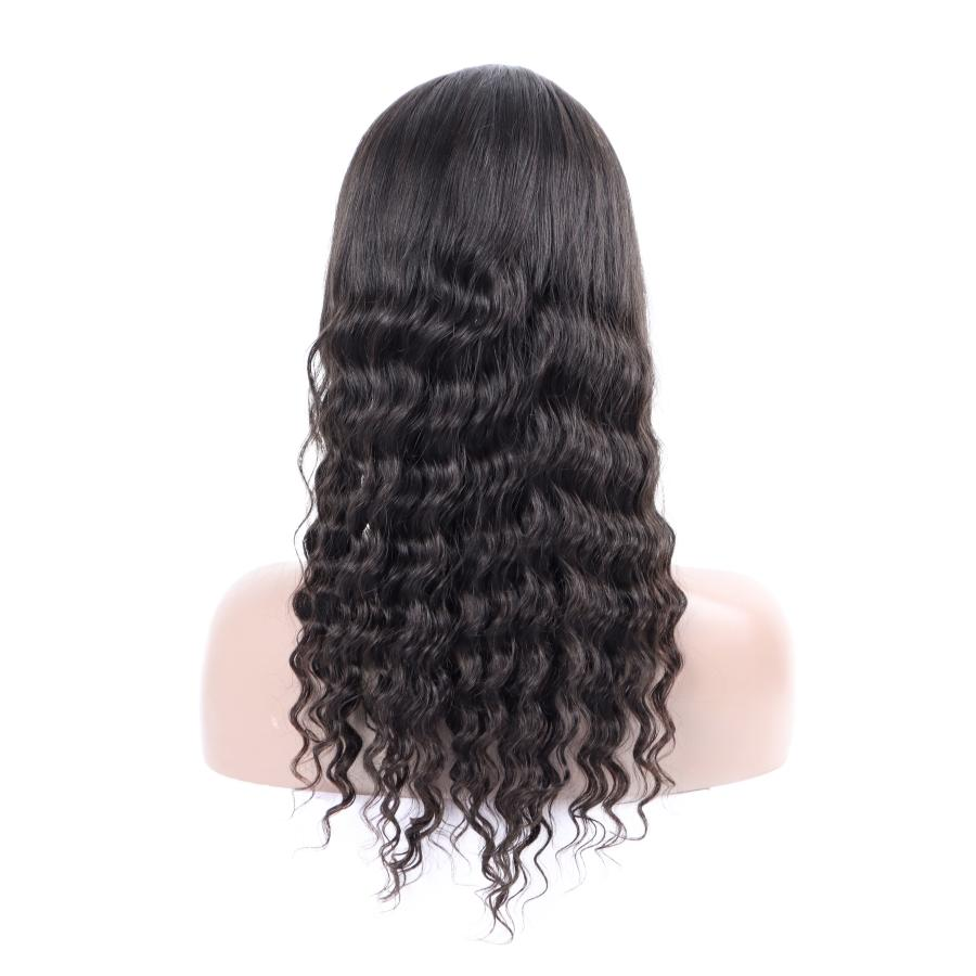"10A Peruvian loose deep wave Wigs lace front human hair wigs 10""-26"" Deep Loose Human Hair Lace Front Wigs Brazilian Hair"