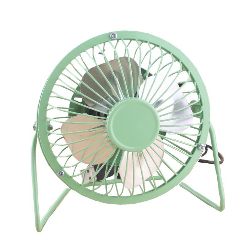 Yaratıcı Mini USB Fan Metal 360 döndürün USB Şarj Fan Ofis Masaüstü Cooler Soğutma Fanları Taşınabilir Mikro Sessiz Radyatör Fan 15 * 15cm DBC VF1571