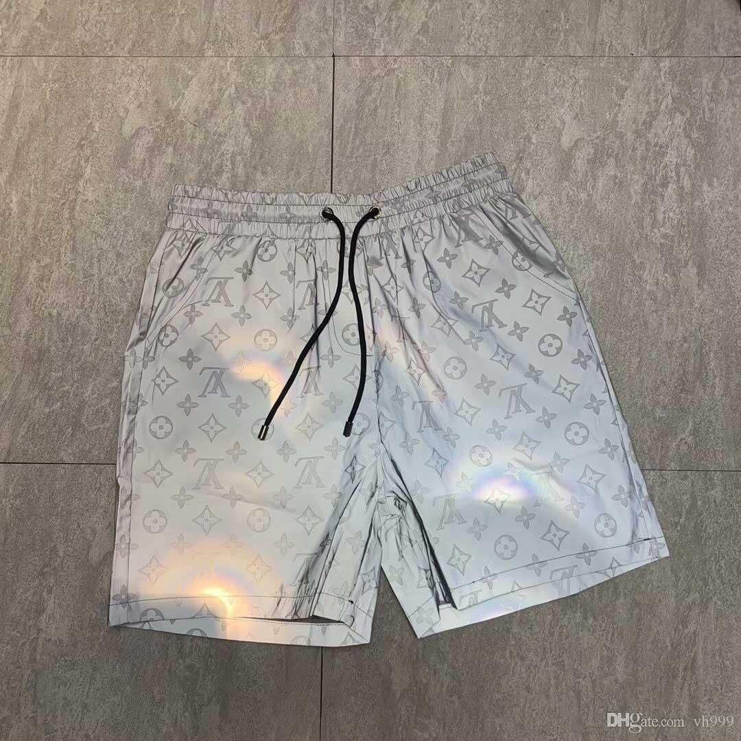 2019nn novo design de luxo casuais calções dos homens cobra padrão bordados de flores calções de banho dos homens de rua calças moda praia Medusa