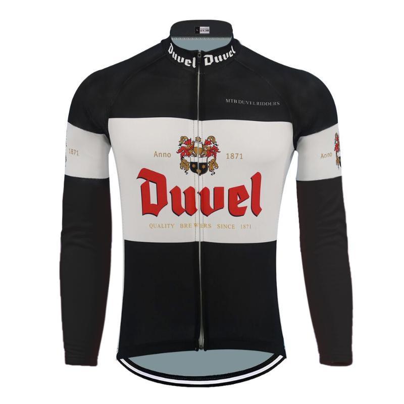 Black DUVEL long cyclisme maillot toison d'hiver ou pas de vêtements de cyclisme chaud jersey Vtt polaire et des vêtements minces vélo