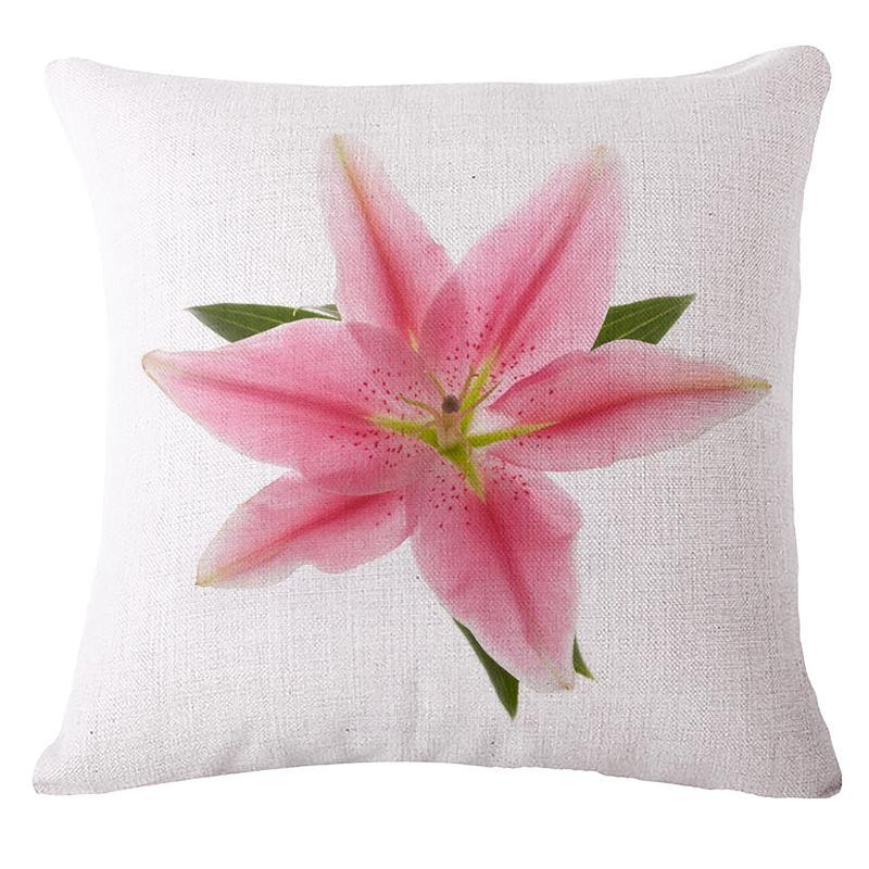 Lirio rosado Flores Cojín Sin Funda de almohada regalo funda de almohada Core personalizada de lino decorativo fundas de almohada boda de San Valentín