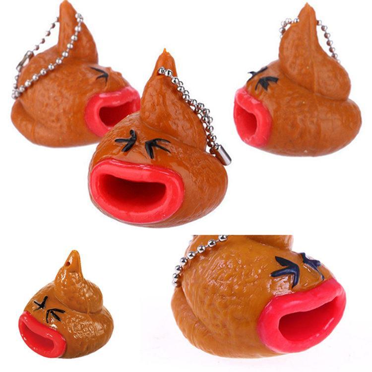 Divertente Squishy Emoticon giocattolo portachiavi Out Tongues novità Fun po 'difficile giocattoli Prank Antistress giocattolo di decompressione 100pcs T1I1830
