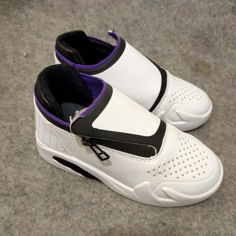 2020 أطفال أحذية الأطفال 14 حرف سحاب في مساعدة من الأحذية كرة السلة القتالية جرافات واقية من مقاومة للاهتراء وامتصاص الصدمات