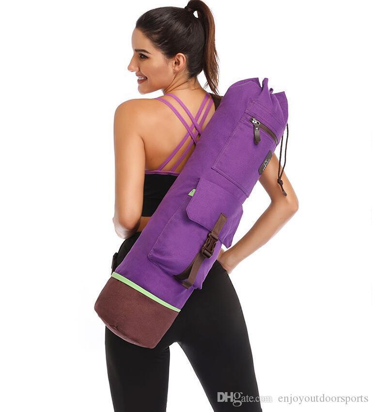 75*18 CM Yoga Bag Double Zipper Waterproof Multifunction Pocket Pilates Yoga Mat Bag Dance Mat Sports Knapsack Fitness Backpack Mat Case #31