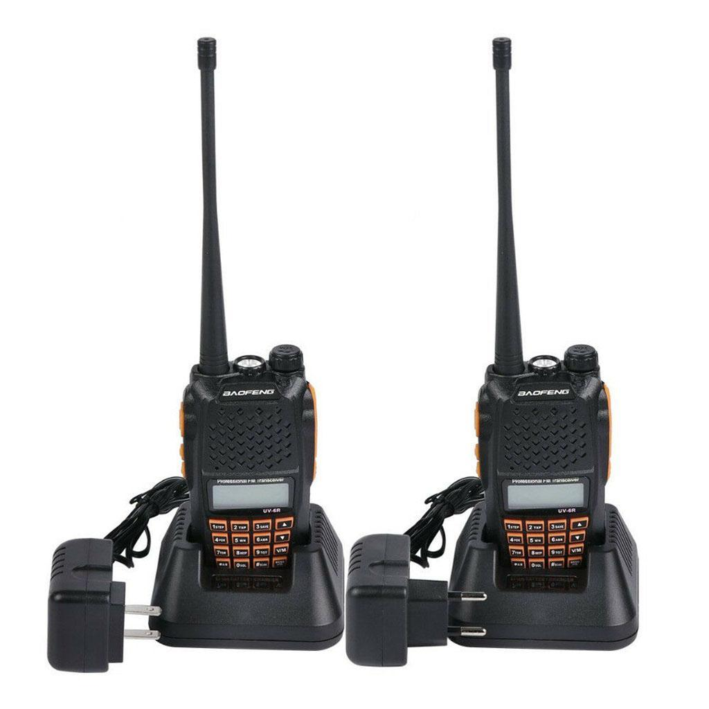50pcs 8W Baofeng UV-6R Walkie Talkie Two Way Radio Dual Band Vhf Uhf high quality more than baofeng uv-5r