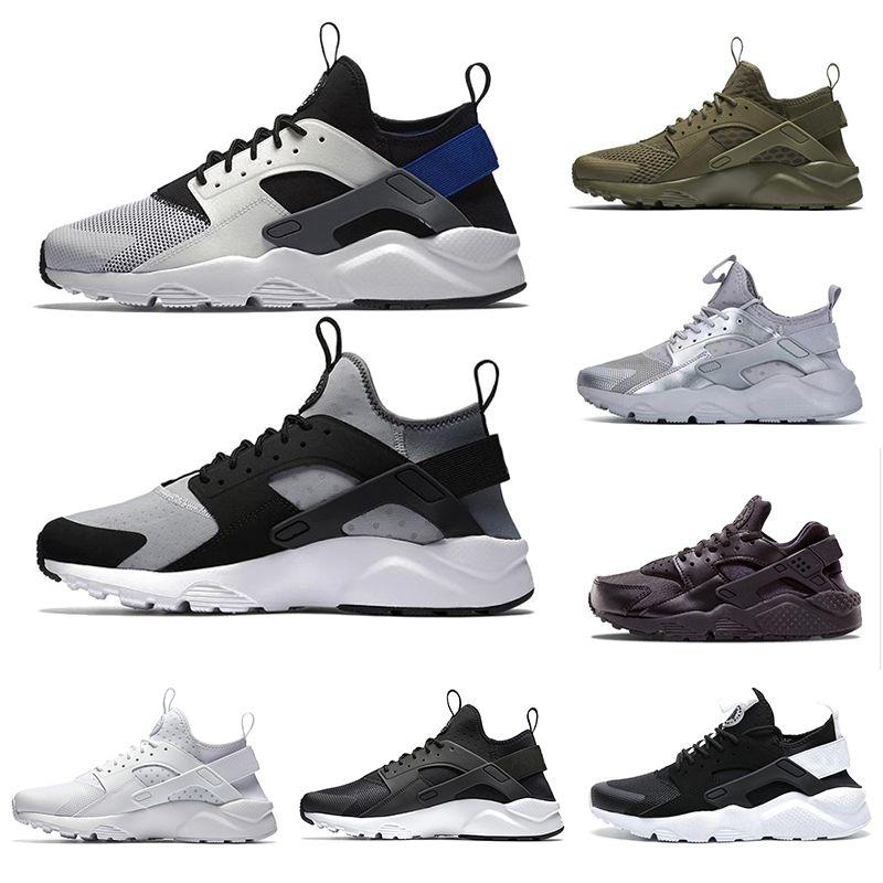 Nike Air huarache IV 4.0 IV hombre zapatos para correr triple negro blanco rojo moda huaraches 1.0 para hombre entrenadores zapatillas deportivas 36-45