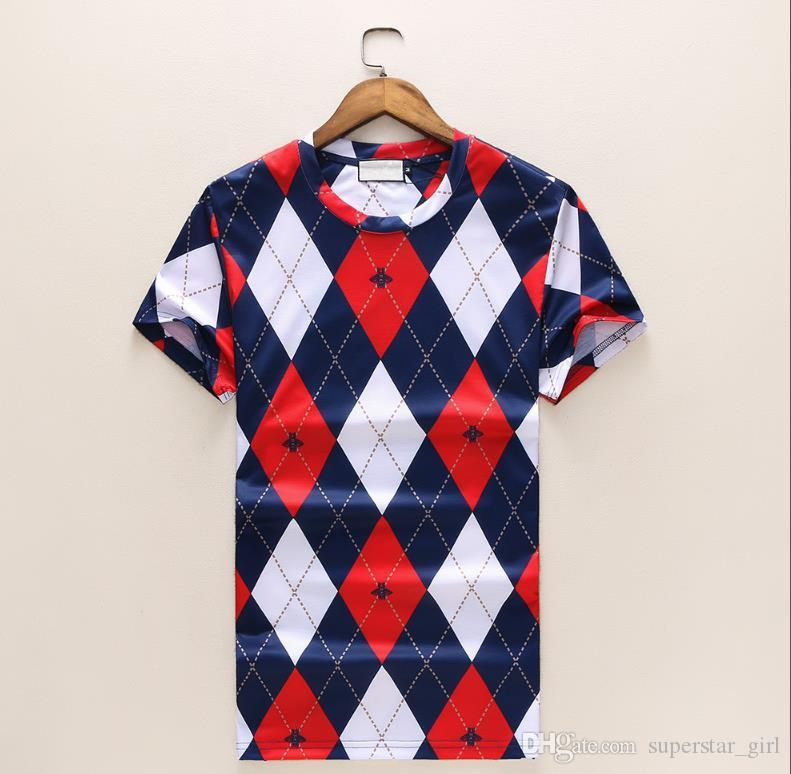 2019 Italien Polo-Hemd T-Shirts Qualitäts-Marken-Schlange Biene Blumenstickerei mens polos High street Streifendruck Polo-T-Shirt