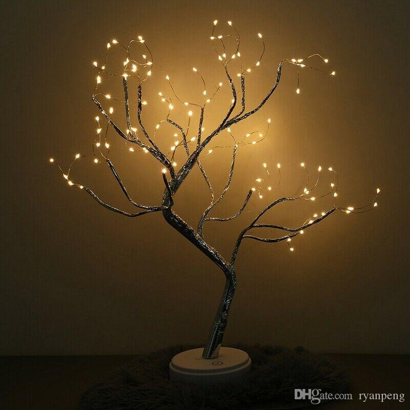 36/108 LED Tree Light Muilti-color Birch Tree Adjustable Table Lamps For Home Dedroom Parties Wedding Ceremony Decor
