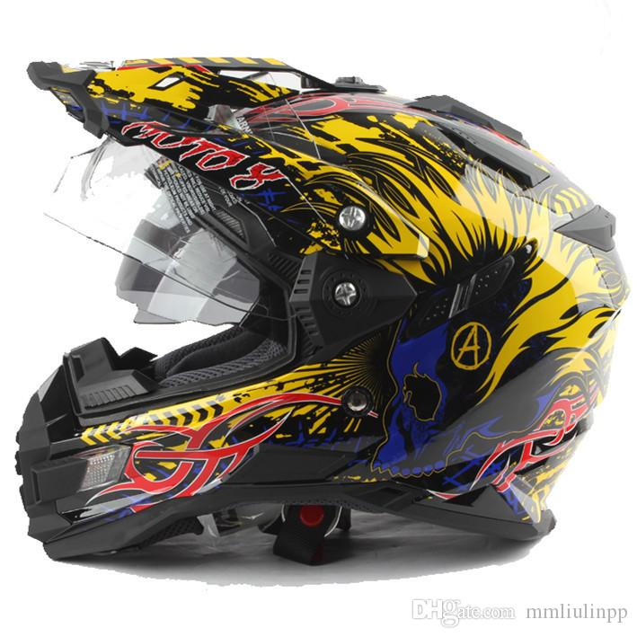 Multi-functional highway dual purpose motorcycle helmet competition dual lens helmet THH