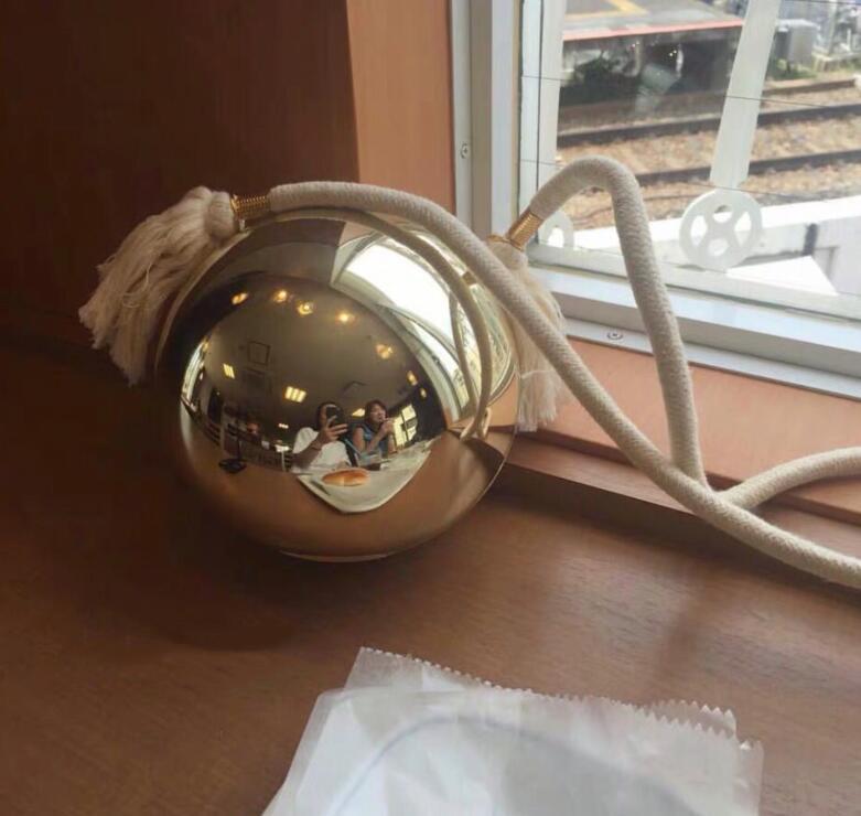 Luxuriöse goldene Perle Kugel Handtasche Fringe Stil Umhängetasche Weihnachtsgeschenk VIP-Geschenkbeutel Premium-Partei Rucksack Designer-Handtaschen
