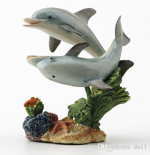 Hayvanlar yunuslar balina İngiliz tasarımcı iki yunus gerçekçi El Sanatları için Doğum Günü hediyesi dekore edilmiş ve düzenlenmiştir
