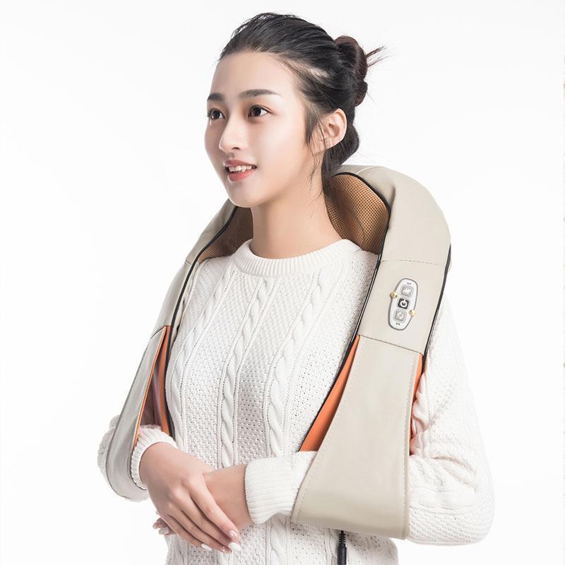 Accueil voiture électrique du corps de massage Massage de relaxation U Forme du cou Retour épaule Shiatsu infrarouge 3D Pétrissage Masseur