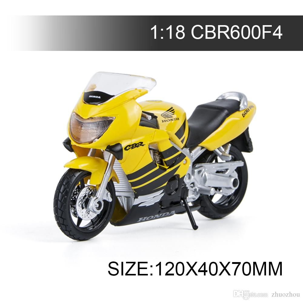 1:18 Motorcycle Models CBR600F4 Yellow Model bike Alloy Motorcycle Model Motor Bike Miniature Race Toy For Gift Collection