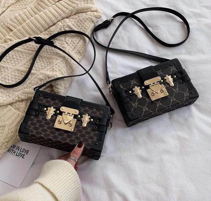 Designer-2020 Boîte d'embrayage Sacs à main original soir Sacs excellente qualité sac en cuir petite boîte Messenger Malle Sac à bandoulière