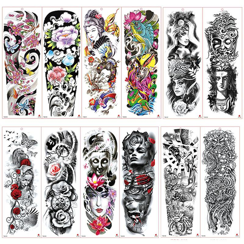Tattoo Waterproof Temporary Tattoo Sticker Skull Angel Rose Lotus Men Full Flower Tatoo Body Art Tattoo Girl Create My Own Tattoo Create Your Own Temporary Tattoo From Zznysm5 0 82 Dhgate Com