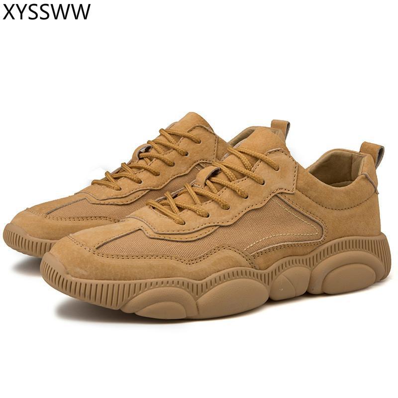 Sıcak Satmak Erkek Sneakers Ayakkabı Erkekler Yetişkin Kaymaz Rahat Ayakkabı Için Açık seyahat yürüyüş ayakkabıları Sonbahar Domuz Derisi Süet Deri