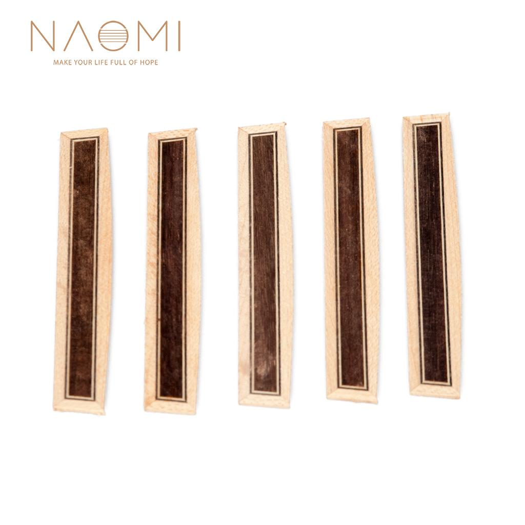 NAOMI 5 PCS 기타 브리지 타이 블록 인레이 우드 프레임 시리즈 기타 부품 액세서리 새로운 NA-08