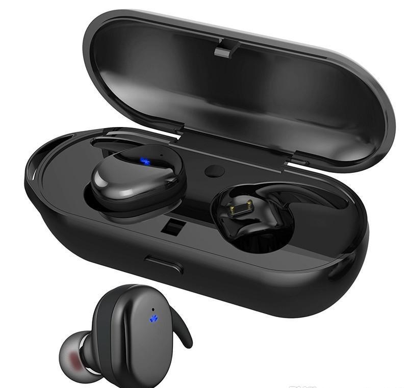 Kısa Twins Kablosuz Bluetooth 5.0 Kulaklık Kulaklık Su geçirmez Spor Stereo Kulaklık Kulak Smartphone için yuva Şarj ile Kulaklık TWS