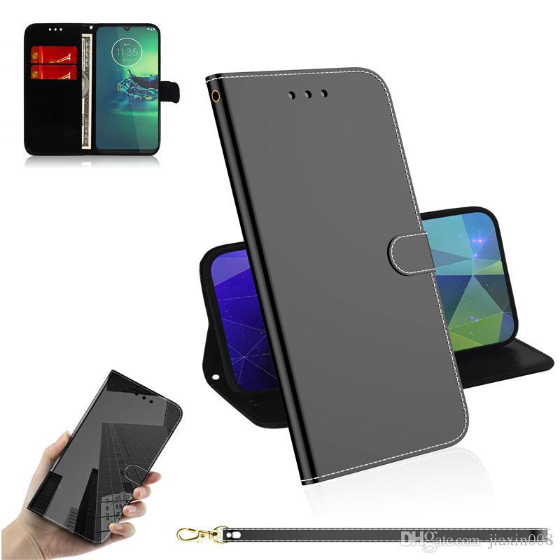 Samsung Galaxy A51 için Pürüzsüz Darbeye PU Deri Kılıf / A70S / A71 / S11 / S11E / S11 Artı Kapak Kart Yuvası ile Cüzdan Standı