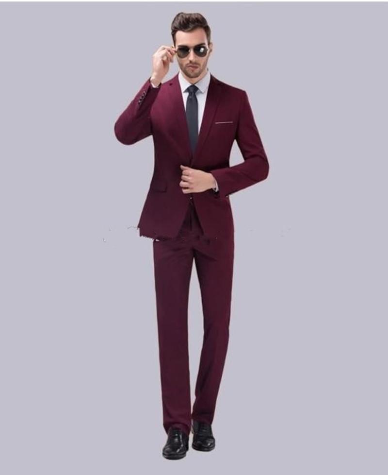 New alta qualidade Notch lapela Groomsmen Um botão do noivo smoking 2 Piece Homens Ternos de casamento / Prom melhor homem Blazer (Jacket + Calças + Tie) 132