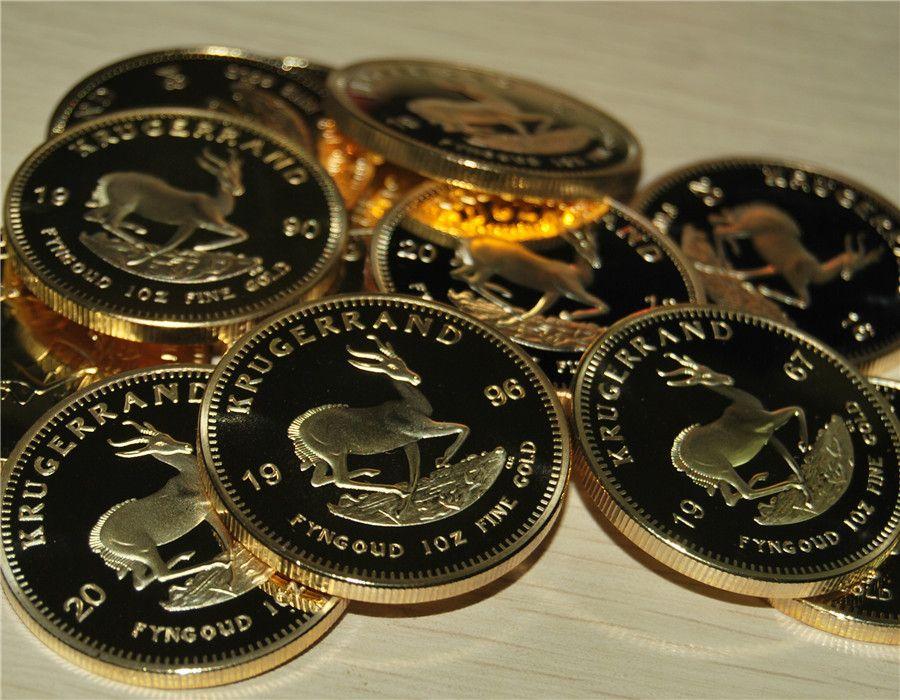 견본 주문, 1967-2016 Mix 13 년식 24k 금도금 krugerrand 금도금 동전 무료 배송