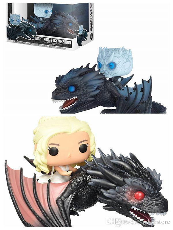 Funko Pop Game of Thrones Daenerys Targaryen Night's King Drogon Action Figure CollectibleGift Toys Hot Sale Free Shipping