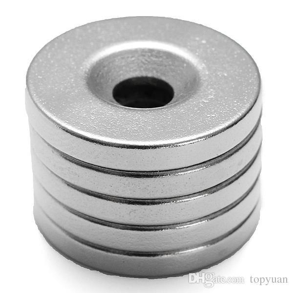 5Pcs Strong Circular Disc Magnets 20mmx3mm Hole 5mm Rare Earth Neodymium