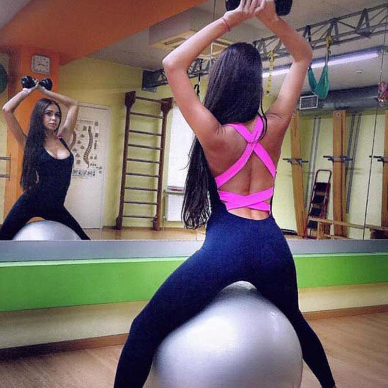Nueva señoras para mujer del Dos-en-uno de la yoga del gimnasio del deporte del chaleco sujetador Ejecución de Legging de la yoga del desgaste de las señoras de deporte chándales Conjunto vendajes estiramiento pieza