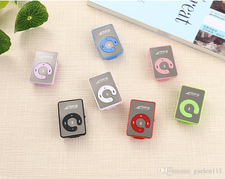 Mini Clip Mp3 Music Player Without Screen Support Micro SD TF card slot Music Play MP3 Players Wholesale 100pcs/lot