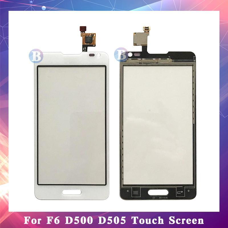"""10 قطعة / الوحدة جودة عالية 4.5 """"ل lg أوبتيموس f6 d500 d505 شاشة اللمس محول الأرقام الاستشعار الخارجي زجاج عدسة لوحة أسود أبيض"""