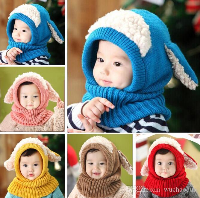아기 겨울 크로 셰 뜨개질 모자 모자 여자 아이 귀여운 핸드 메이드 니트 크로 셰 뜨개질 따뜻한 모자 BY0614