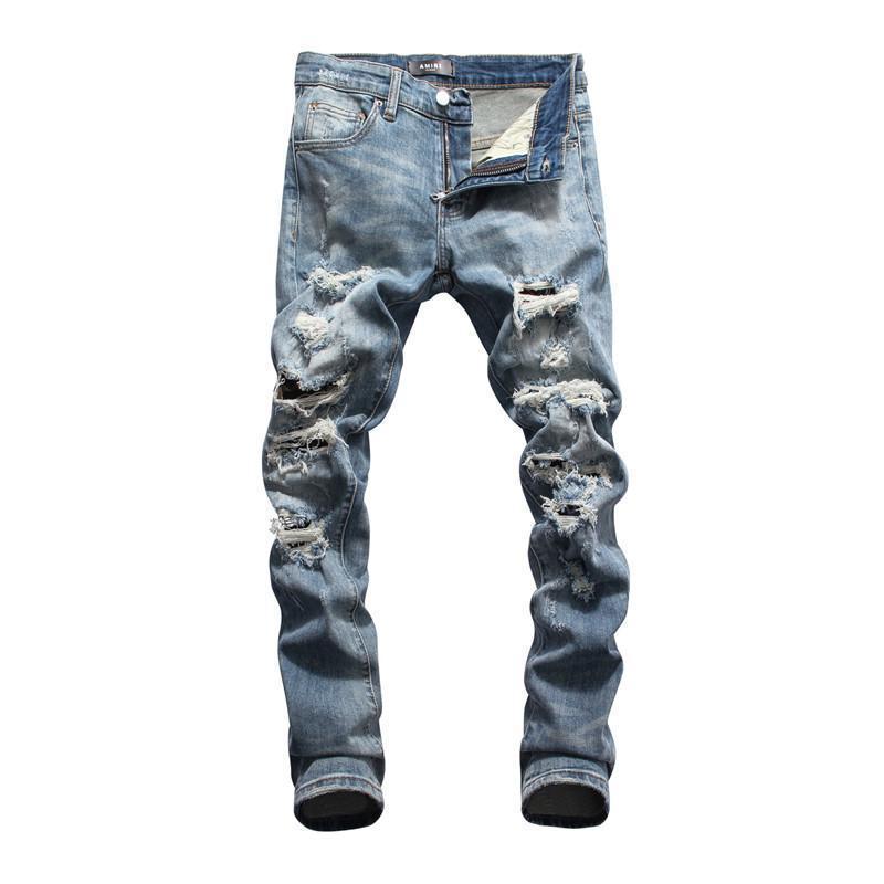 Compre Mens 2020 Pantalones Vaqueros De Diseno De Lujo De Bolsillo Hombre Del Disenador De Moda De Los Pantalones Vaqueros Distrressed Washed Adolescentes Ropa Hombre Pantalones De Los Hombres A 47 38