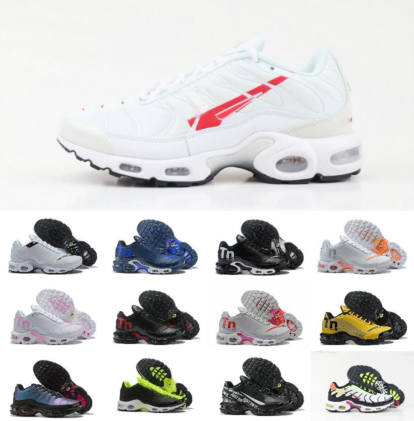 2020 New Mercurial Plus Tn Ultra SE Mens Running Sports Shoes fashion Chaussures Air Tn Requin Black White Tripe SNEAKERS tn royal Trainers
