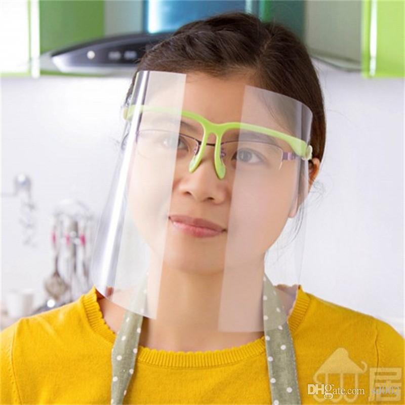 Gözlük Çerçevesi Plastik Buğulanmaya Karşıtı Tükürük Sıçrama Tam Yüz Kalkanı Toz Ağız Maskeleri ile Emniyet Şeffaf Koruyucu Maske 5 68jt E1
