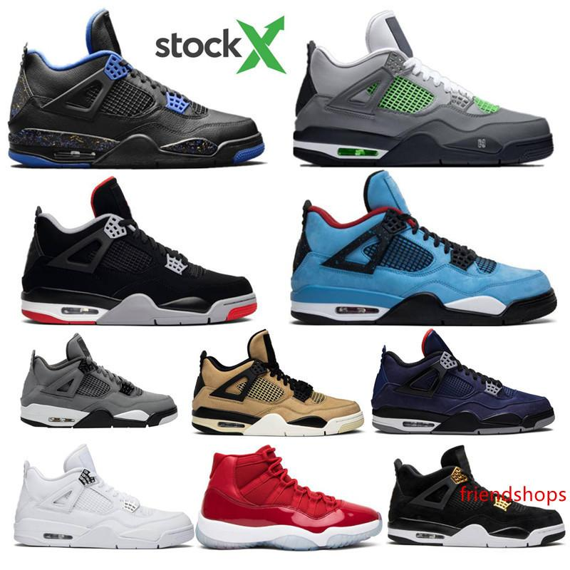 2020 Bred Neon Was die 4 4s IV Loyal Blue Cactus Jack Cool Gray Herren-Basketball-Schuhe White Cement 11 11s Concord Space Jam Sport-Turnschuhe