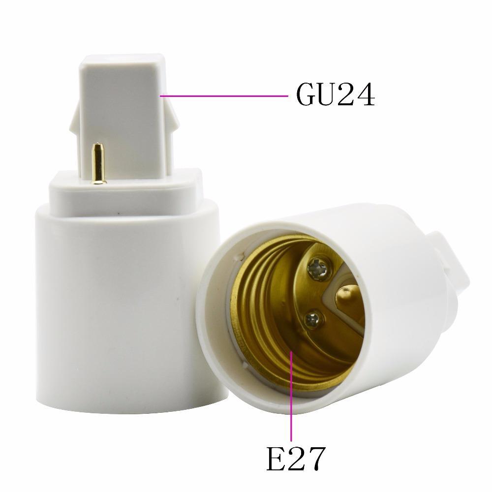 G24 para E27 suporte da lâmpada Converter parafuso Bases lâmpada LED Lâmpada Luz Parafuso soquete E27 lâmpadas de G24 Titular conversor adaptador